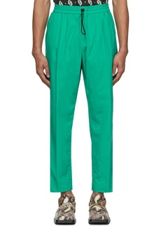 Kenzo Green Poplin Tapered Lounge Pants