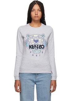 Kenzo Grey Classic Tiger Head Sweatshirt