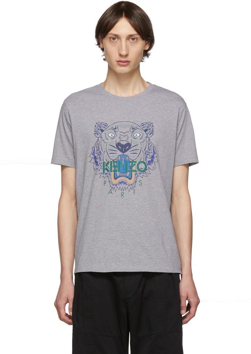 Kenzo Grey Icon Tiger T-Shirt