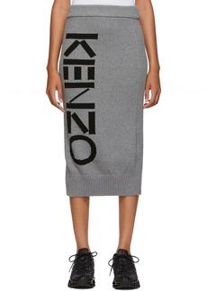 Kenzo Grey Sport Tube Mid-Length Skirt