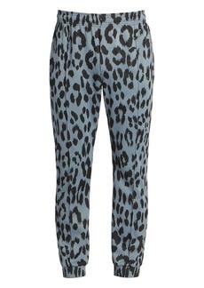 Kenzo Guepard Leopard-Print Jacquard Track Pants