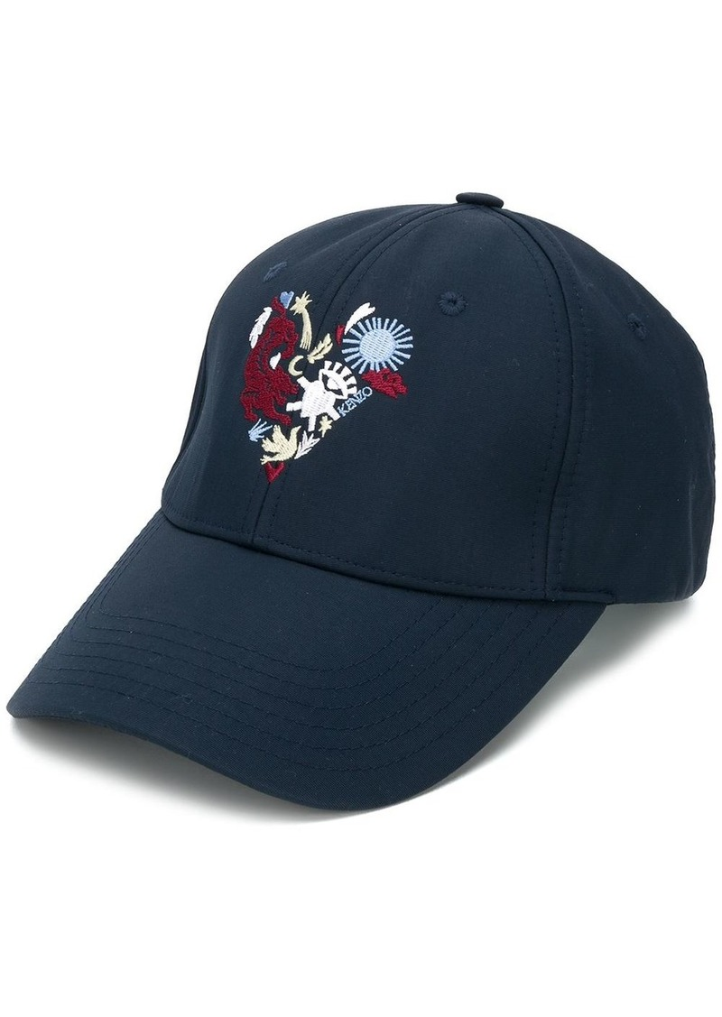 Kenzo heart crest embroidered cap