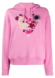 Kenzo heart crest-embroidered hooded sweatshirt