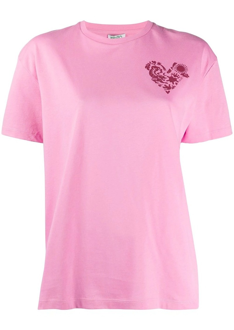 Kenzo heart crest-print boxy T-shirt