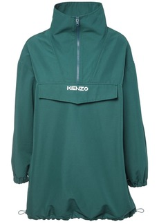 Kenzo High Collar Cotton Blend Jacket