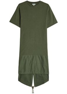 Kenzo High-Low Dress with Drawstring