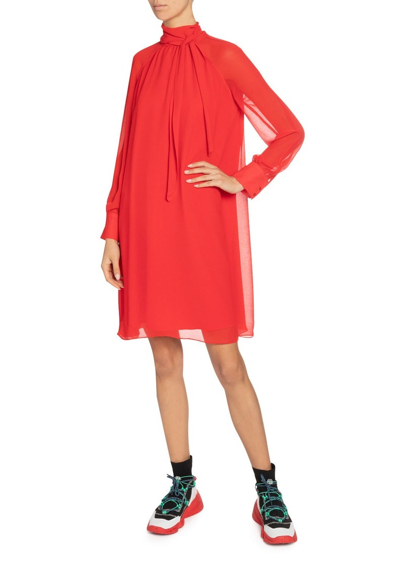 Kenzo High-Neck Flared Tunic Dress