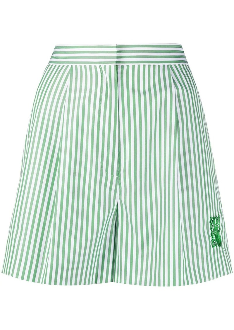 Kenzo high-waisted striped shorts