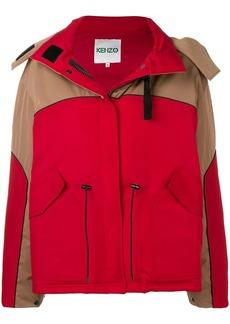 Kenzo hooded colour-block parka