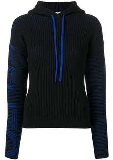 Kenzo hooded ribbed knit sweater