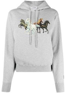 Kenzo horse-print cotton hoodie