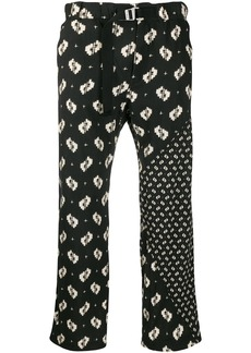 Kenzo Ikat belted trousers
