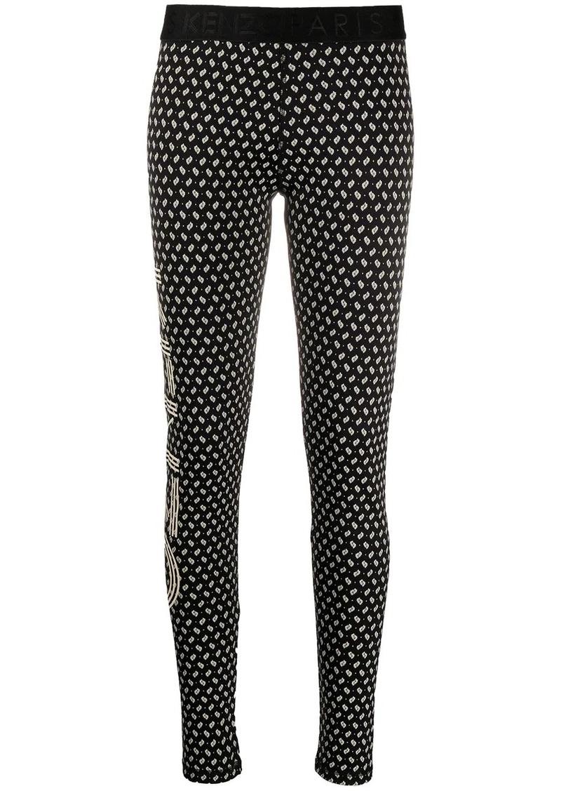 Kenzo Ikat-print mid-rise leggings