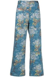 Kenzo wide leg Indonesian Flower jeans