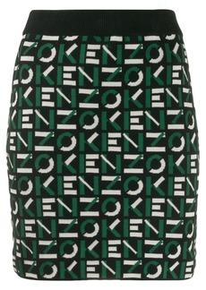 Kenzo intarsia-knit logo skirt