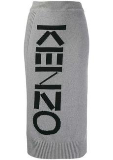 Kenzo intarsia logo skirt
