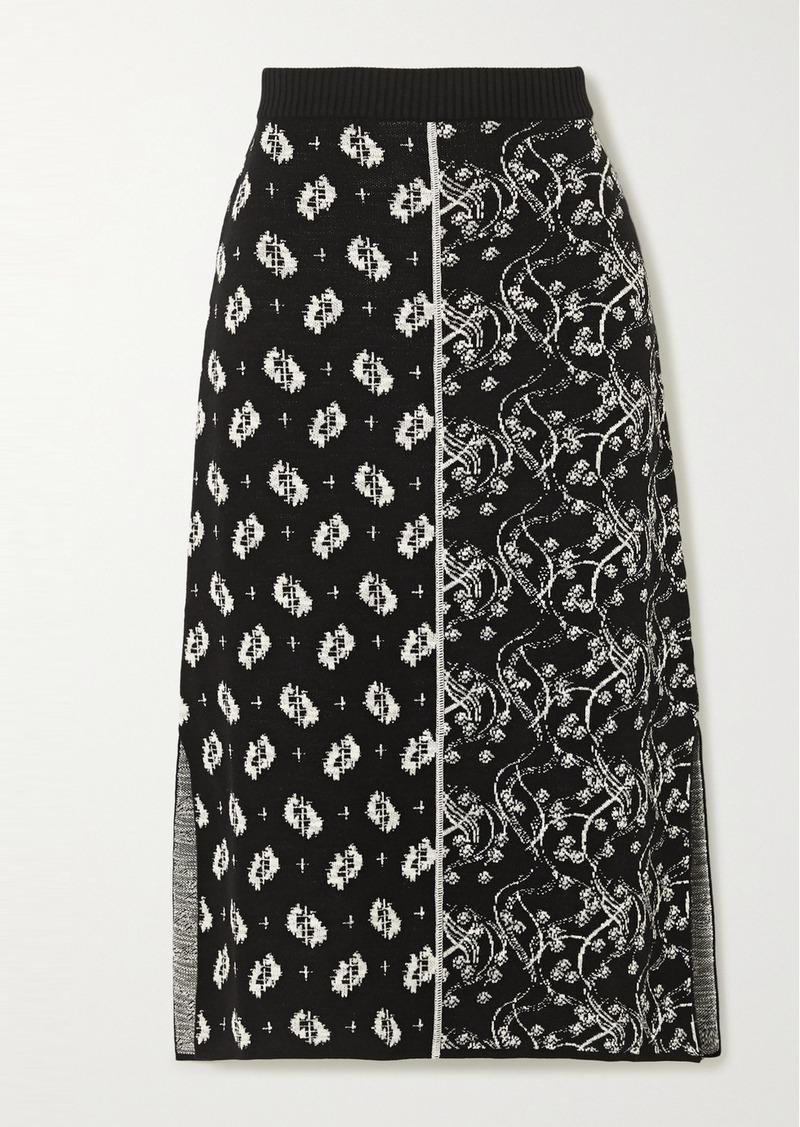 Kenzo Jacquard-knit Midi Skirt