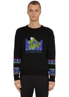 Kenzo Jacquard Mountain Artwork Wool Sweater