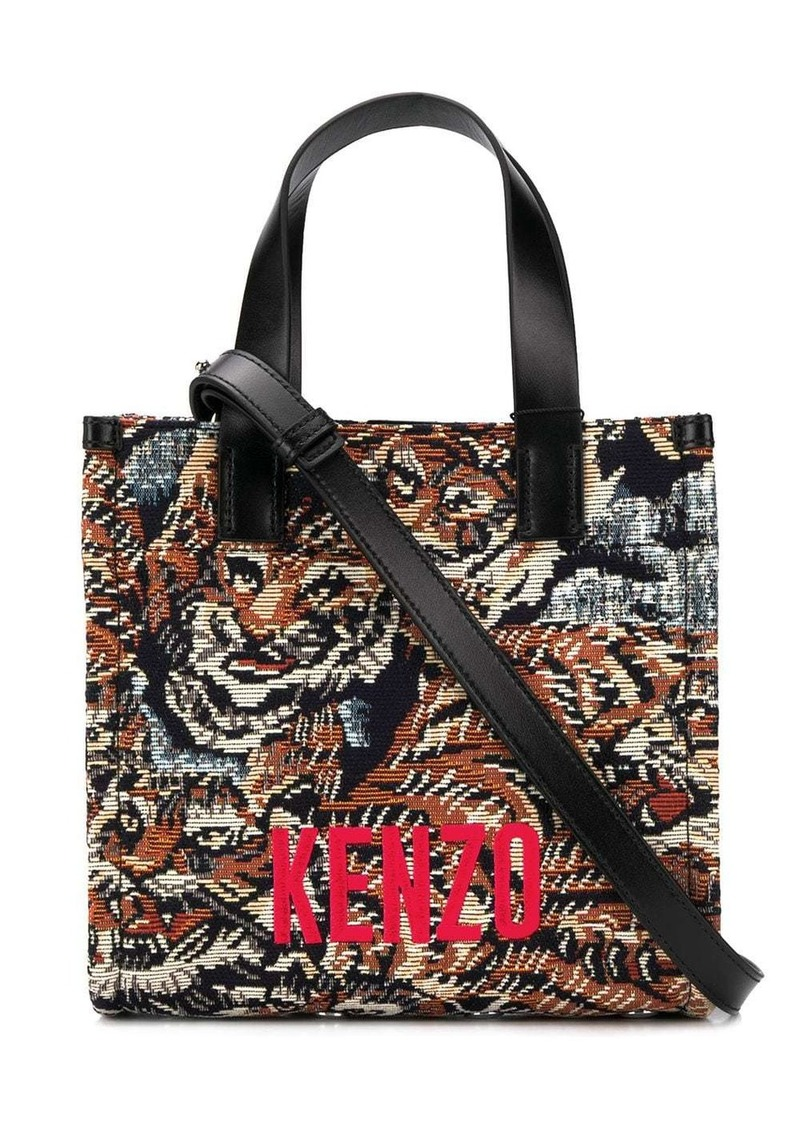 Kenzo Jungle Flying Tiger jacquard tote bag