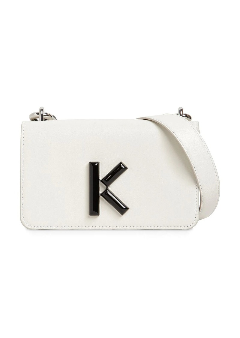 Kenzo K Leather Shoulder Bag