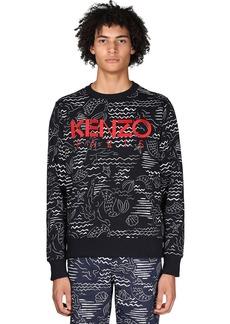 Kenzo + Marina Print Cotton Sweatshirt