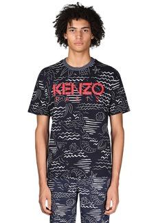 Kenzo + Marina Print Cotton T-shirt