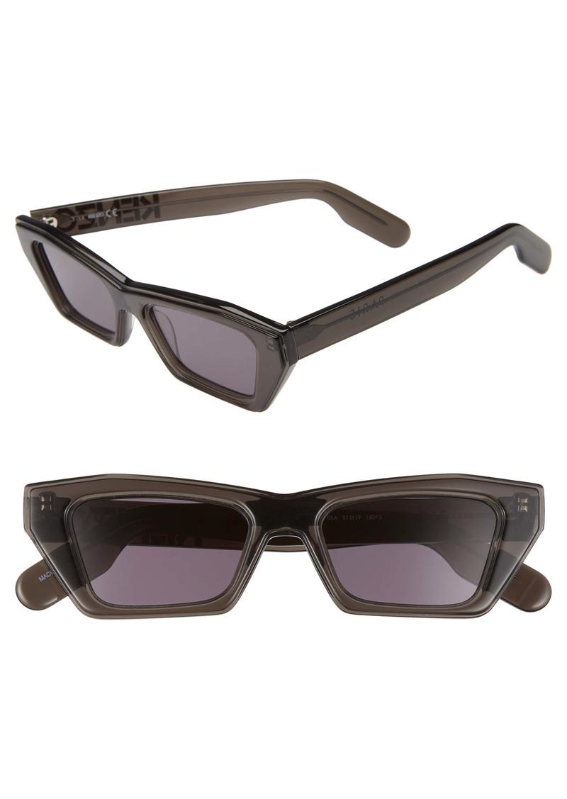 KENZO 51mm International Fit Rectangle Sunglasses