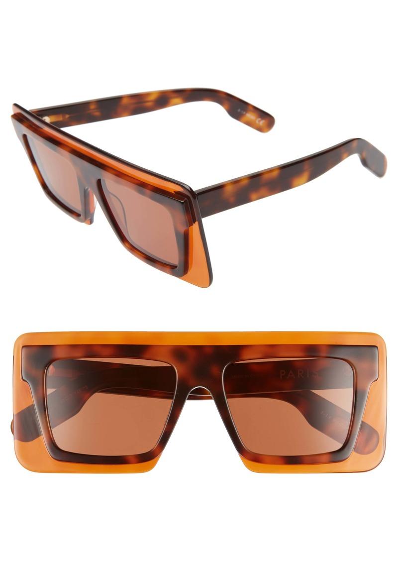 KENZO 53mm International Fit Square Sunglasses