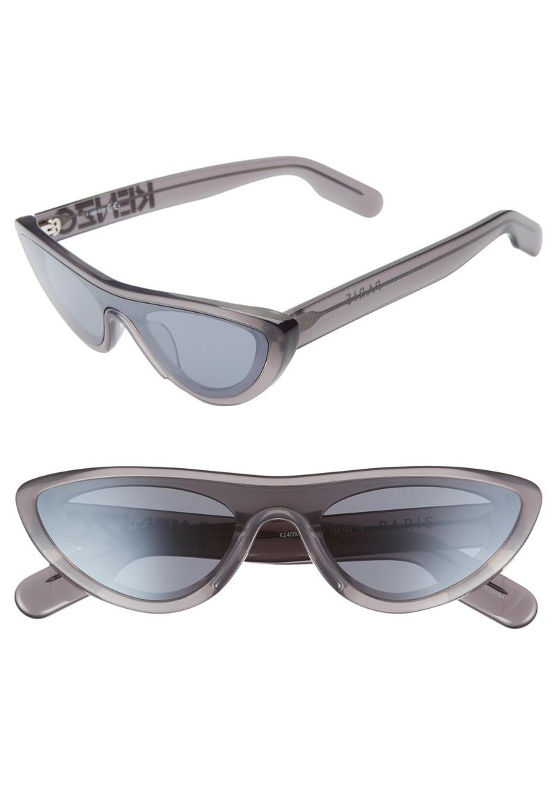 KENZO 55mm International Fit Cat Eye Shield Sunglasses