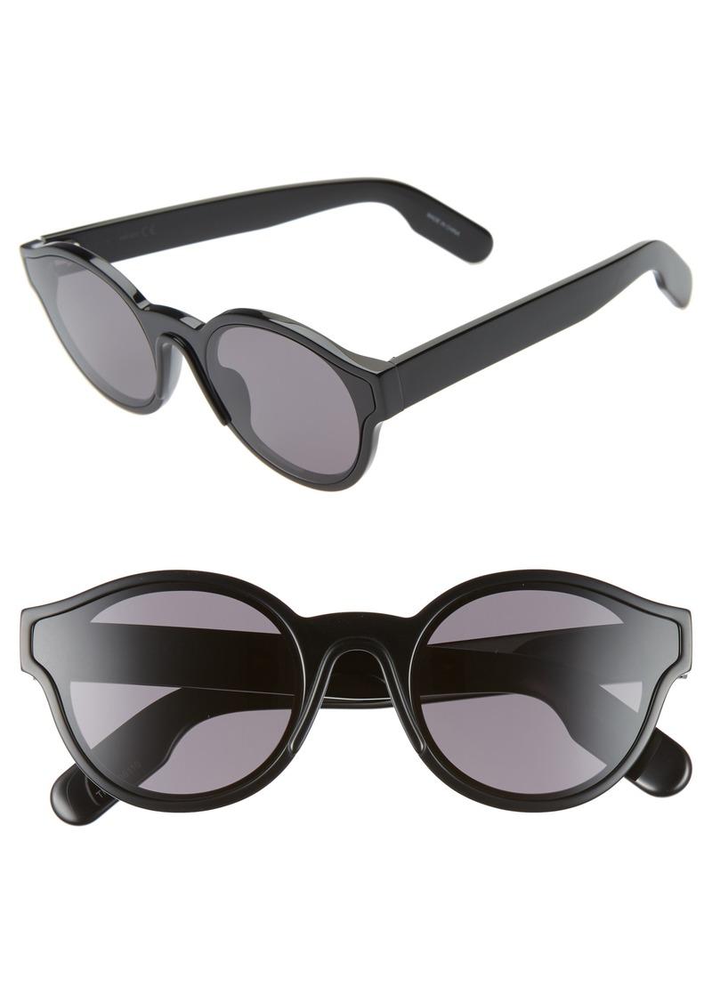 KENZO 58mm International Fit Round Sunglasses