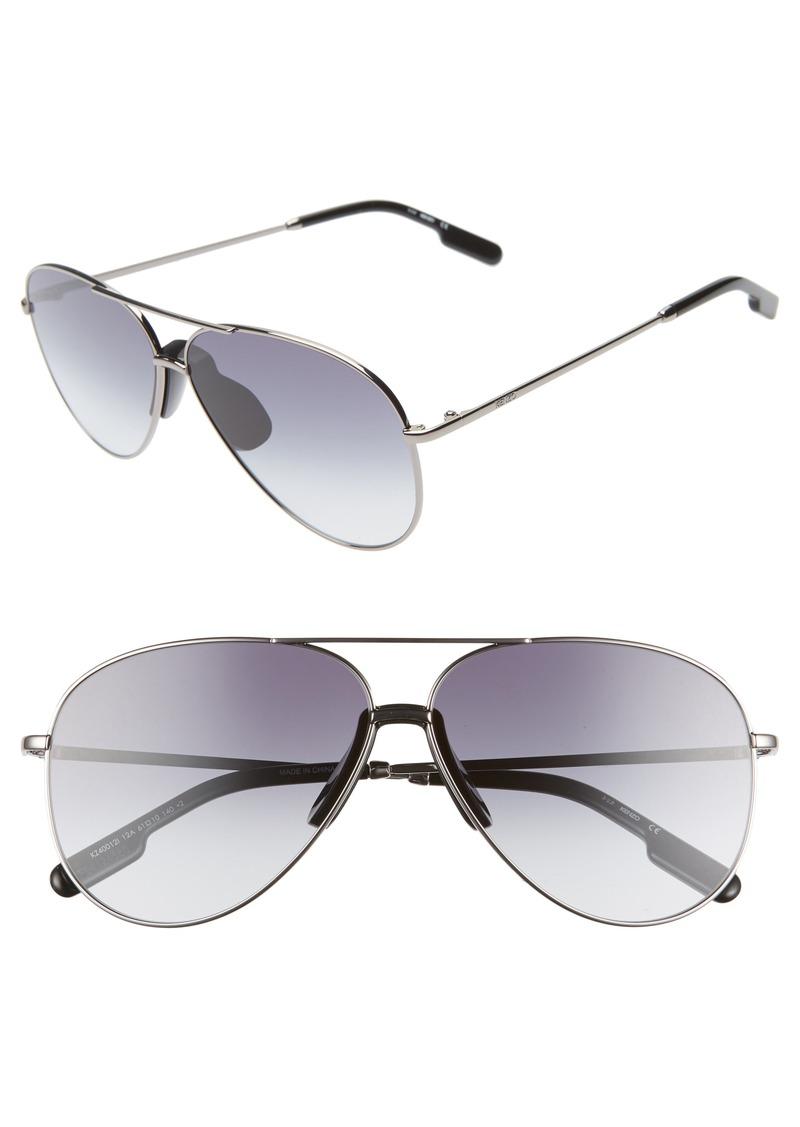 KENZO 61mm International Fit Aviator Sunglasses