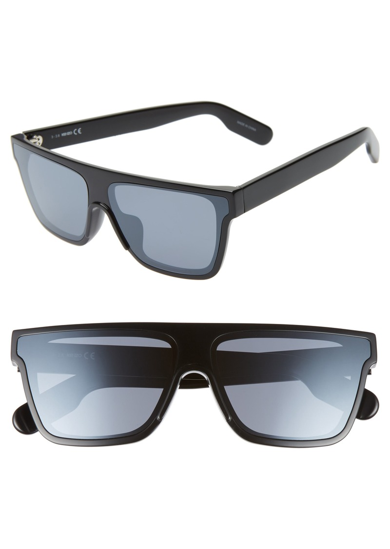 KENZO 67mm Special Fit Oversize Flat Top Sunglasses