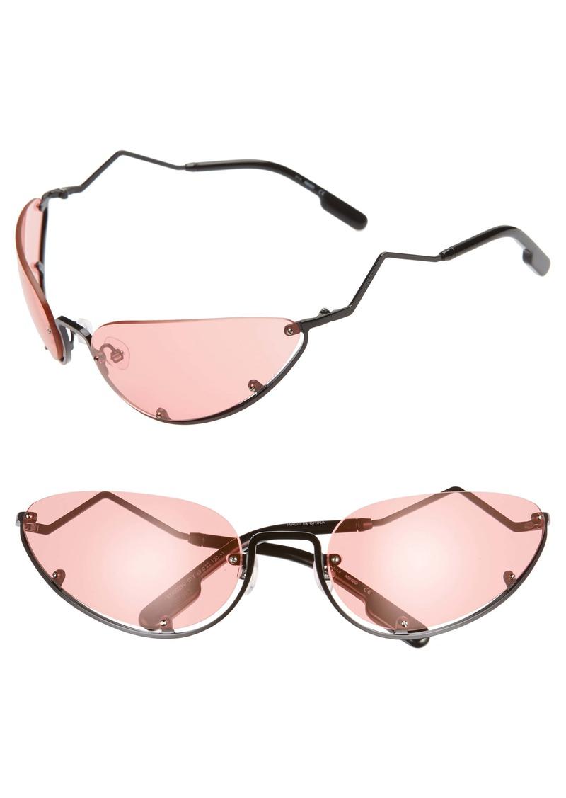 KENZO 69mm Oversize Semi Rimless Oval Sunglasses