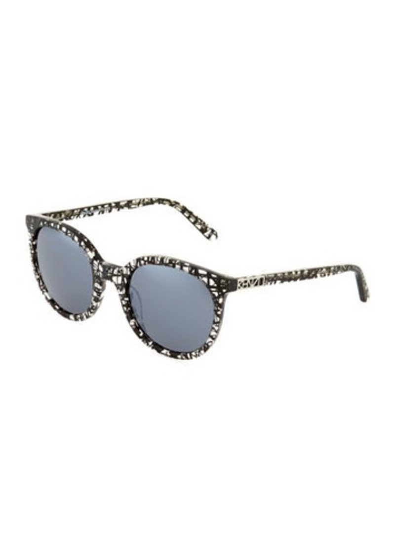 e11161cff5559 SALE! Kenzo Kenzo Abstract-Print Cat-Eye Plastic Sunglasses