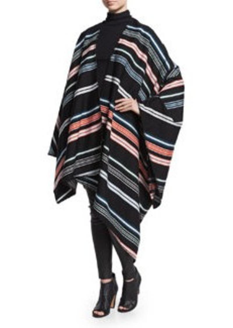 Kenzo Striped Twill Oversize Poncho