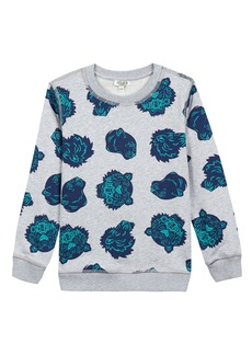 Kenzo Allover Tiger Head-Print Sweatshirt  Size 5-6