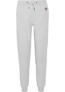 KENZO Appliquéd French cotton-terry track pants