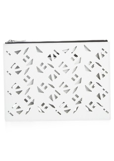 KENZO Art Gummy Perforated Leather A4 Pouch