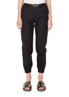 Kenzo Belted Cropped Cotton-Blend Track Pants