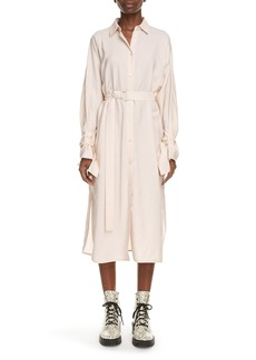 KENZO Belted Long Sleeve Midi Shirtdress