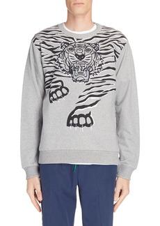 KENZO Big Tiger Print & Embroidered Sweatshirt