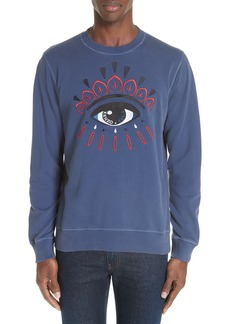 KENZO Bleached Eye Embroidered Sweatshirt