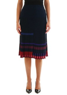 Kenzo Blue Pleated Skirt