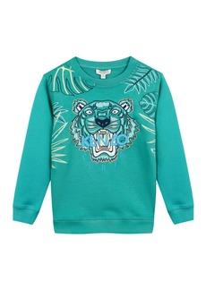 Kenzo Botanical Tiger Embroidered Sweatshirt  Size 2-4
