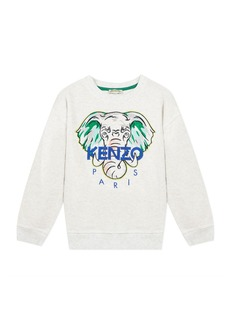 Kenzo Boy's Embroidered Elephant Logo Sweatshirt  Size 8-12