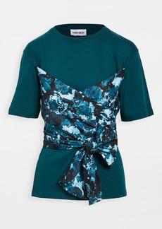 KENZO Bustier Mix Woven T-Shirt
