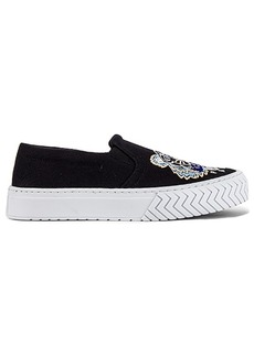 Kenzo Canvas Tiger Head Embroidery Slip On