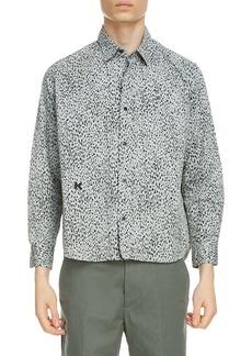 KENZO Cheetah Print Button-Up Shirt