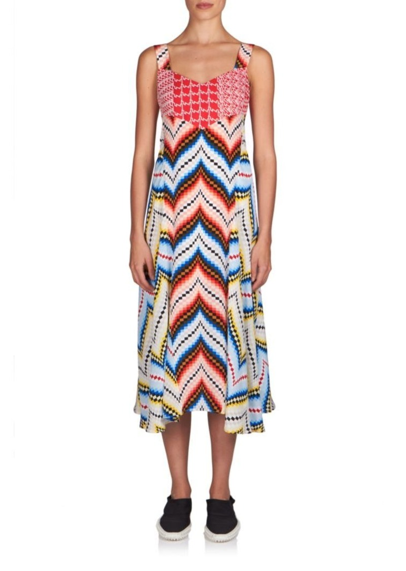 KENZO Chevron Silk Dress