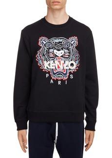 KENZO Classic Tiger Embroidered Crewneck Sweatshirt
